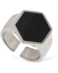 "Isabel Marant Anillo ""Golden Mother"" Hexagonal - Negro"