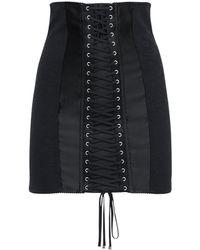 Dolce & Gabbana - ストレッチサテンミニスカート - Lyst