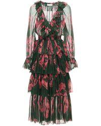 Zimmermann Платье Из Шифона - Многоцветный