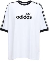 adidas Originals - 70s 3 Stripes ジャージーtシャツ - Lyst