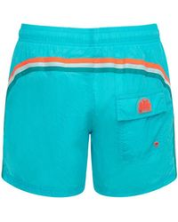 Sundek Logo Nylon Swim Shorts - Blue