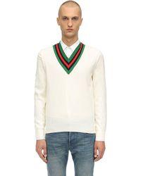 Gucci Джемпер С V-образным Вырезом - Белый