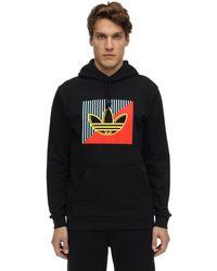 adidas Originals Hoodie Aus Baumwollfleece Mit Logo - Schwarz