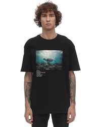 Criminal Damage Green Sea Turtle Organic Cotton T-shirt - Black