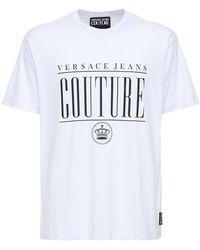 Versace Jeans Couture Хлопковая Майка С Принтом - Белый