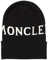 Moncler Gorro con logo - Negro