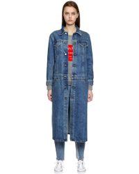 Calvin Klein Jeans   Cappotto In Denim   Lyst