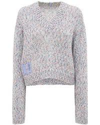 McQ Breathe コットンクロップドセーター - グレー