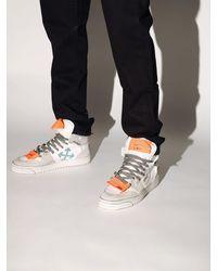 Off-White c/o Virgil Abloh - Sneakers Montantes En Cuir Effet Marbré - Lyst