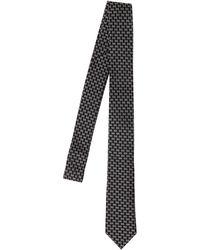DSquared² Krawatte Aus Jacquard Mit D2-logo - Schwarz