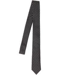 DSquared² Cravatta In Seta Jacquard Con Logo D2 - Nero