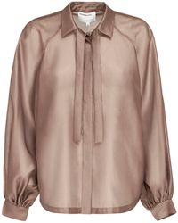 Designers Remix Enola サテンシャツ - ブラウン