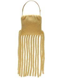 Bottega Veneta Lockige Teddy-clutch Aus Shearling Mit Fransen - Mehrfarbig