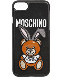 Moschino - Teddy Playboy Patch Iphone 7 Cover - Lyst