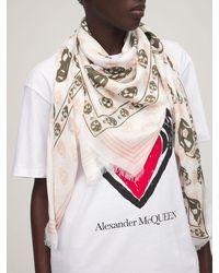 Alexander McQueen Платок Classic Skull On Biker - Многоцветный