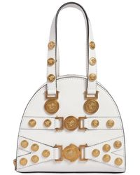 Versace - Small Tribute Leather Top Handle Bag - Lyst