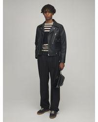 Maison Margiela Leather Biker Jacket - Black