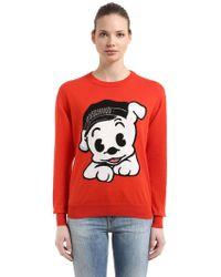 Moschino - Oversize Pudgy Cotton Knit Sweater - Lyst