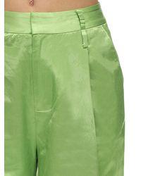 STAUD Weite Shorts Aus Satin - Grün