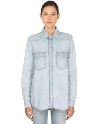 Givenchy Vintage Super Bleach Denim Shirt - Blue