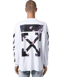 Off-White c/o Virgil Abloh Langärmeliges, Oversized T-shirt - Weiß