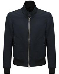 Tom Ford Harrington コットン&シルクシャツジャケット - ブラック