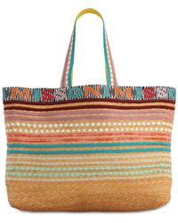 Missoni Nastri Straw Blend Tote Bag - Mehrfarbig