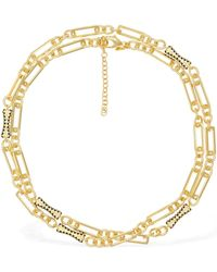 Iosselliani 18kt Gold Plated Chain Wrap Necklace - Metallic