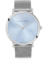 Larsson & Jennings - Lugano Solaris 40mm Light Blue Watch - Lyst
