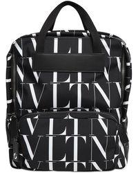 Valentino - Vltn Times ナイロンバックパック - Lyst