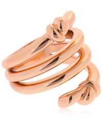 Eshvi | Hula Hoops Rose Gold Plated Ring | Lyst