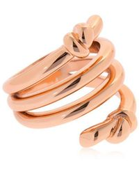 Eshvi - Hula Hoops Rose Gold Plated Ring - Lyst