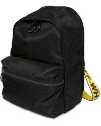 Off-White c/o Virgil Abloh Mini Nylon Backpack W/logo Webbing - Black