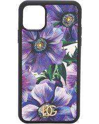 Dolce & Gabbana Iphone 11 Pro-cover Aus Leder Mit Druck - Mehrfarbig