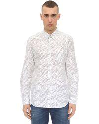 DIESEL コットンポプリン プリントシャツ - ホワイト