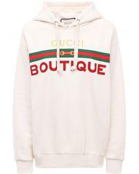Gucci - 【公式】 (グッチ) Boutique プリントスウェットシャツオフホワイト コットンホワイト - Lyst