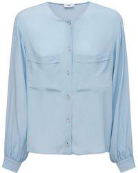 AG Jeans - シルクブレンドクレープデシンシャツ - Lyst