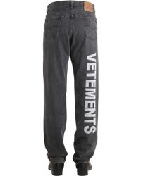 Vetements | Levi's 501 Reworked Embroidered Jeans | Lyst