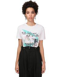 Vivienne Westwood Cat Print Organic Cotton Jersey T-shirt - White