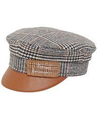 Ruslan Baginskiy - Monogram Embroidered Baker Boy Hat - Lyst