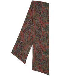 Etro Schal Aus Seide Mit Paisleydruck - Grün