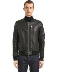 Belstaff - Clenshaw Leather Bomber Jacket - Lyst
