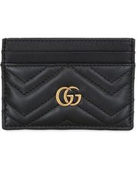 Gucci - Black GG Marmont Card Holder - Lyst