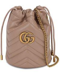 Gucci GG Marmont Mini Bucket Bag - Brown