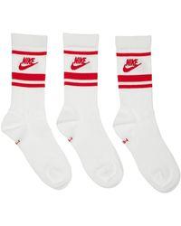 Nike Set De 3 Pares De Calcetines Con Rayas - Multicolor