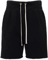 Les Tien Cotton French Terry Sweat Shorts - Black