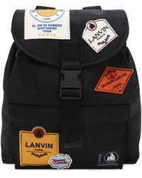 Lanvin ナイロンバックパック - ブラック