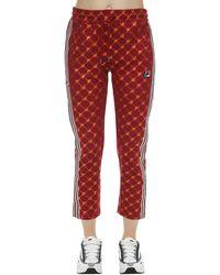 Fila Monogram Print Techno Track Trousers - Red