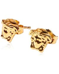 Versace Medusa Stud Earrings - Metallic