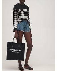 Saint Laurent 10mm Nu Pied Leather Sandals - Black